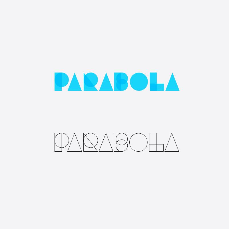 Blue tech logo design using modern geometric shapes