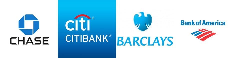 Blue bank logo s