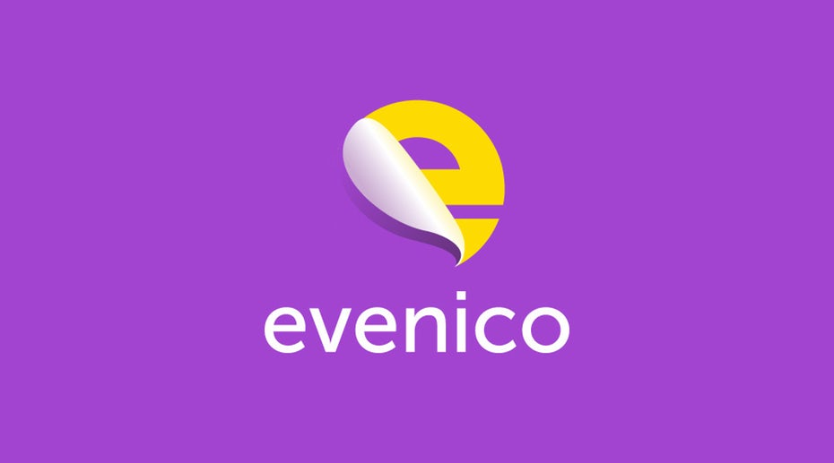 purple and yellow letter E logo