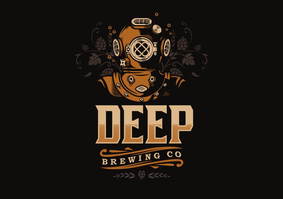 deep sea diver  logo