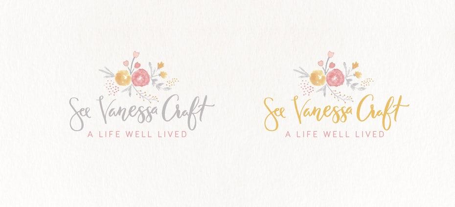 watercolor flower logo