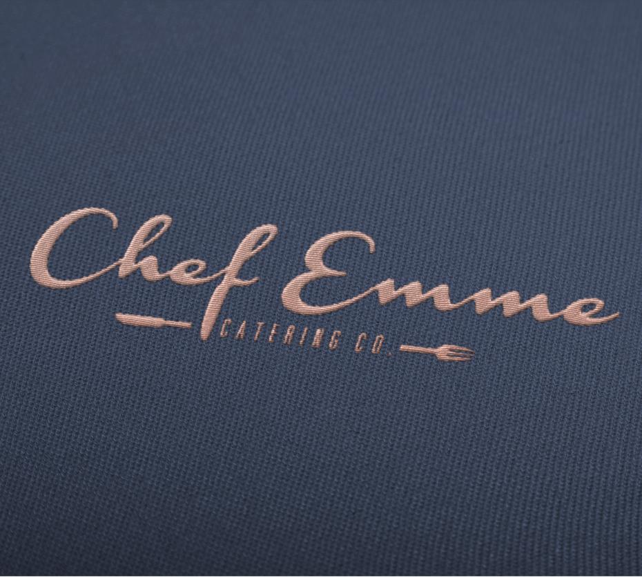 chef emme handlettered wordmark  logo