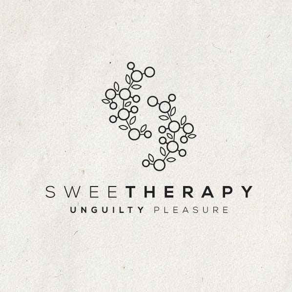monochrome elegant catering logo with abstract illustration