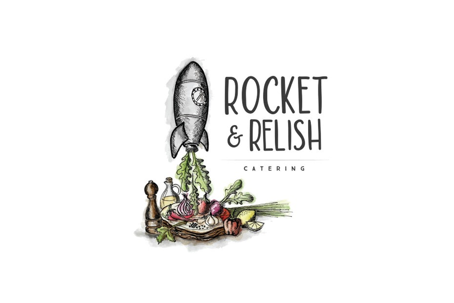 Rocket and Relish catering logo
