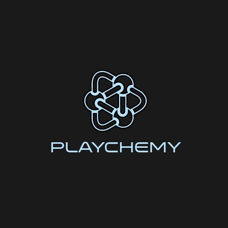A scientific and clean  logo  for a game