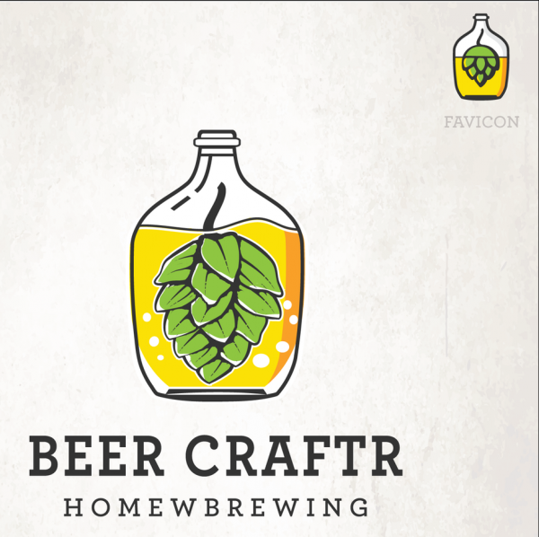 Illustrated  logo  and favicon design for a beer company