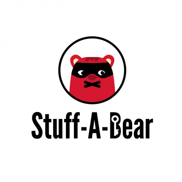 teddy bear in mask logo