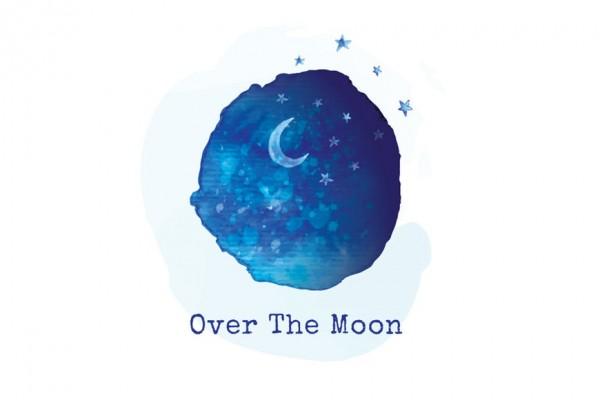 moon and night sky  logo