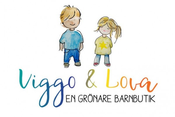 boy and girl watercolor logo