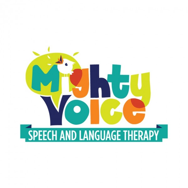 bold colorful mighty voice  logo