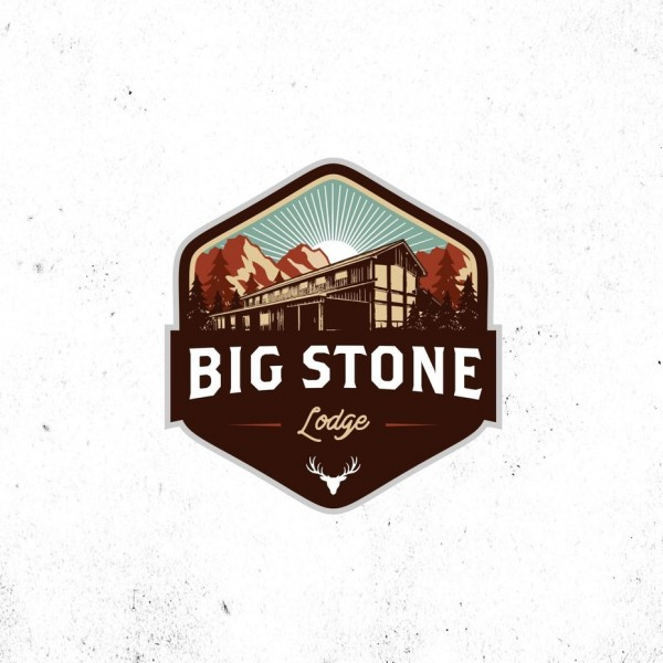 An indulgent, yet cozy logo designed for a lodge in the woods.