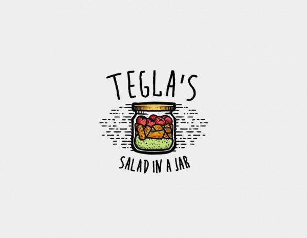 Salad in a jar logo