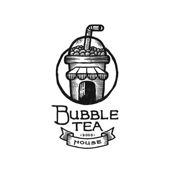 Bubble tea logo