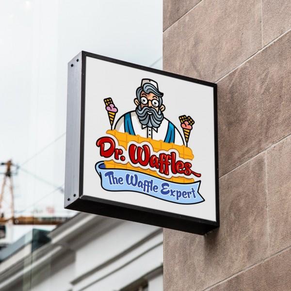 Waffle shop  logo  design