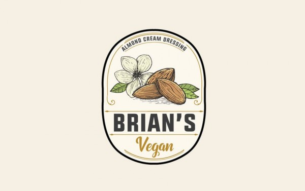 Vegan almond cream dressing  logo