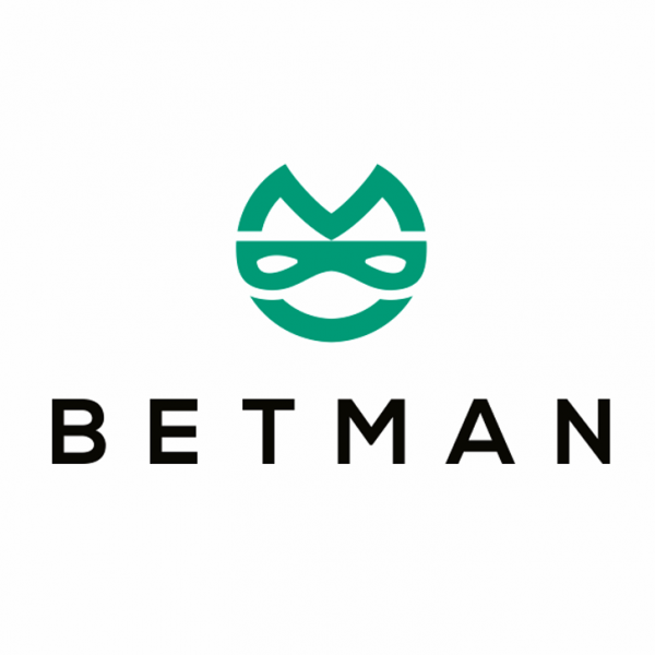 """abstract green image of a masked face with the text """"betman"""""""