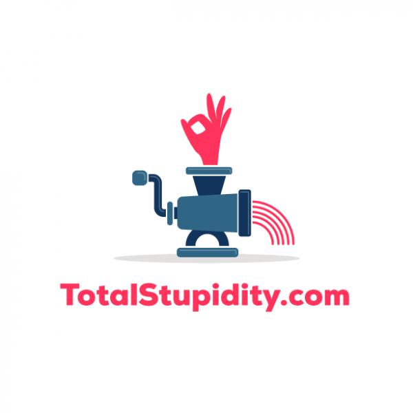 logo design with meat grinder
