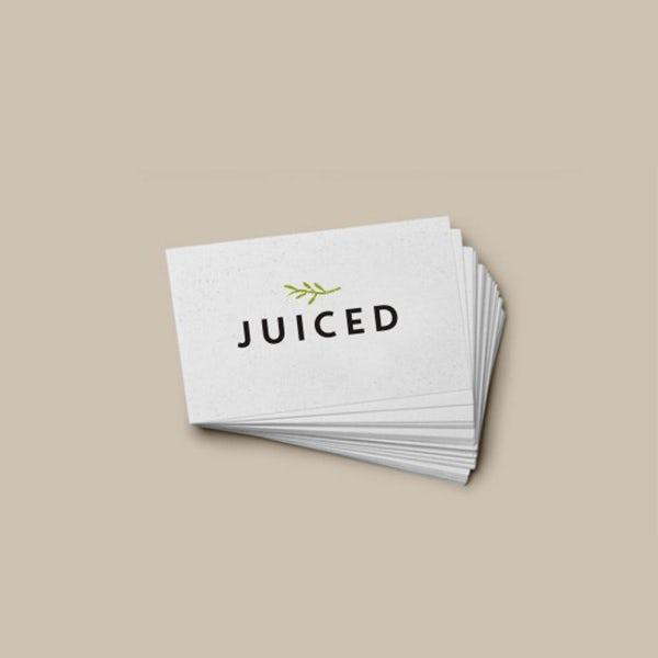 juice logo with leaf