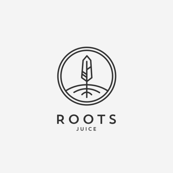 black and white juice logo