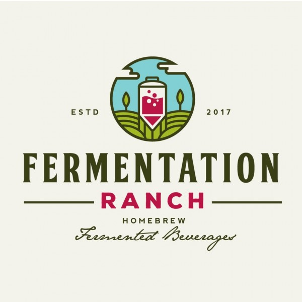 illustrated fermented drink logo