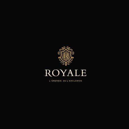 luxury black and gold logo