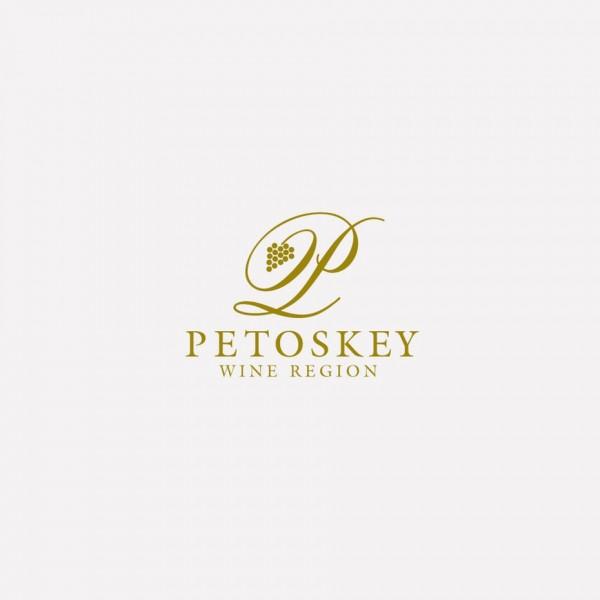 white over gold wine logo