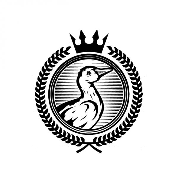 duck wearing crown logo