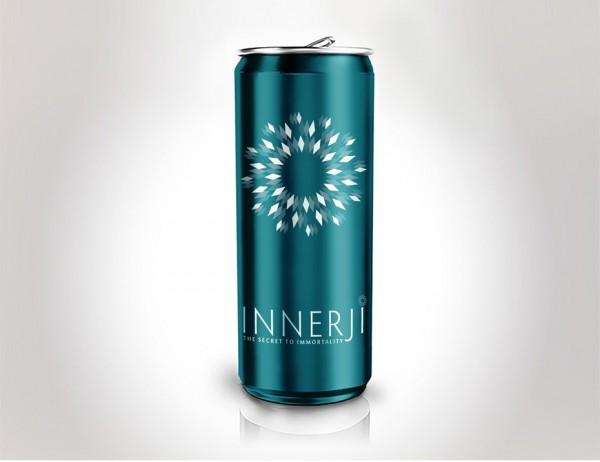 geometrically popping drink logo