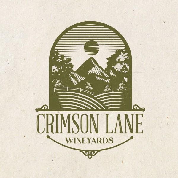 Crimson Lane wine  logo  contest entry