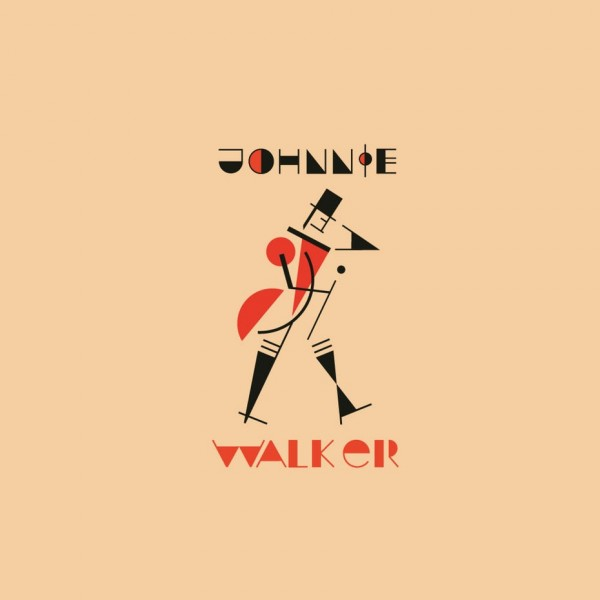 Johnnie Walker  logo  in Bauhaus design style