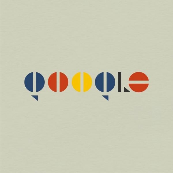 Google logo in Bauhaus design style