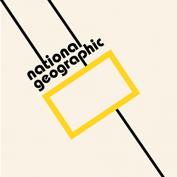 National Geographic logo in Bauhaus design style