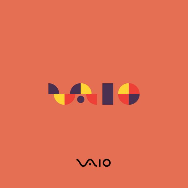 Sony VAIO logo in Bauhaus design style