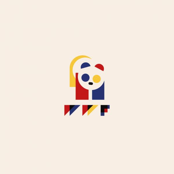 WWF logo in Bauhaus design style