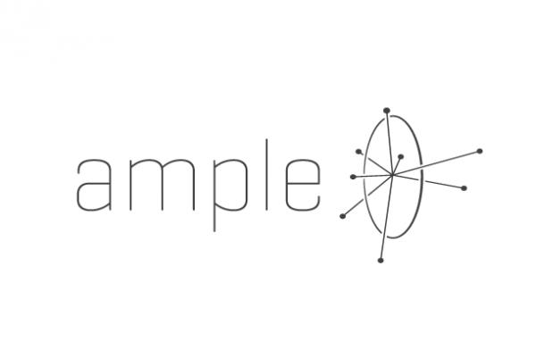 An atomic futuristic  logo