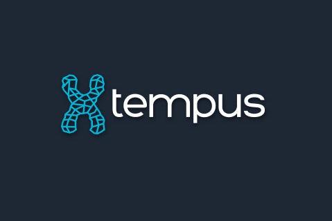 A futuristic  logo  using scientific imagery