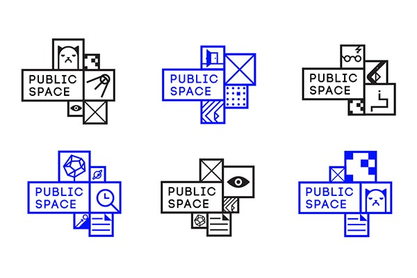 different  logo  option for public space