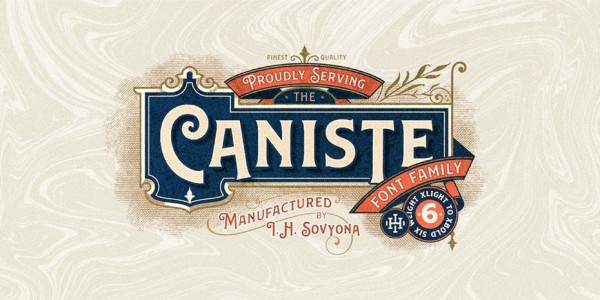 Caniste Victorian font family