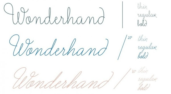 Wonderhand font family overview