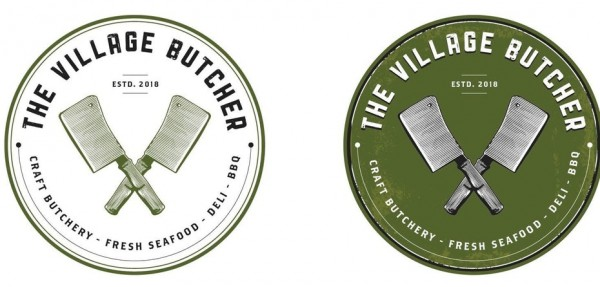 The Village Butcher  logo s