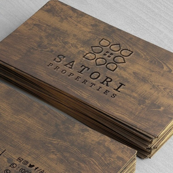 Flower design business card