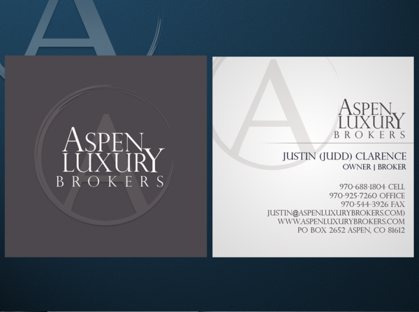 Aspen Luxury Brokers business cards