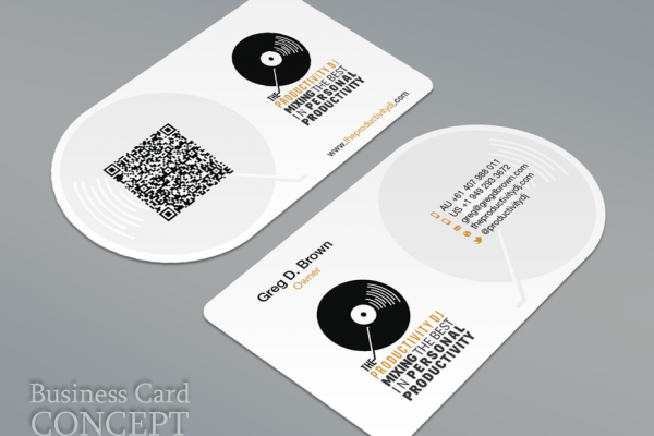 Record business card