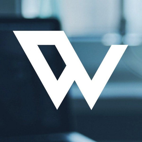 An abstract shape similar to a W