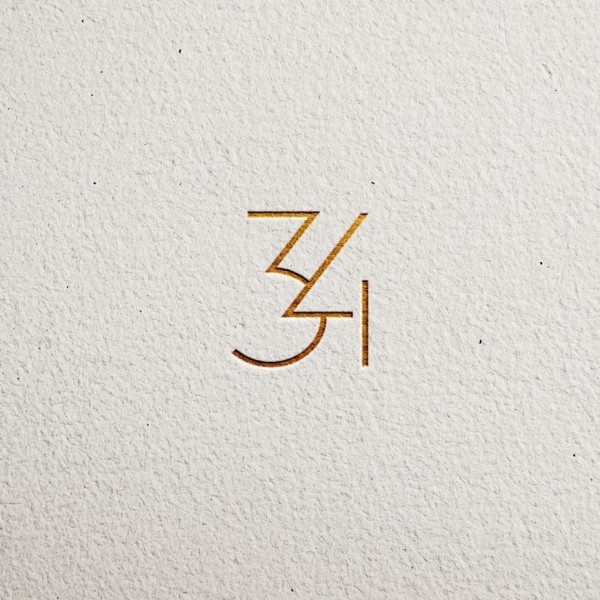 Thin font with gold leaf