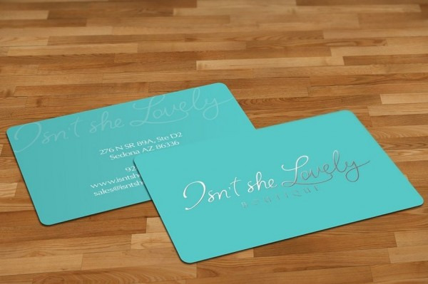 Beauty boutique business card design