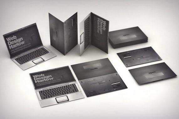 Web design 3d business card