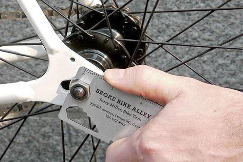 Bike repair business card