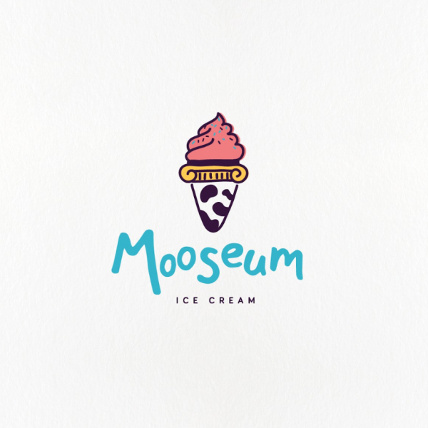 Modern ice cream logo