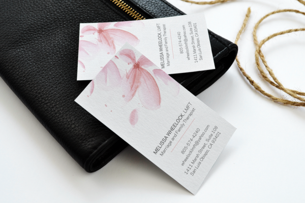 flower watercolor business card